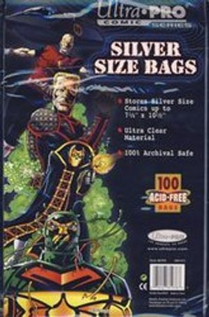 COMIC BAGS -  SILVER SIZE COMIC BAGS (100) (7 1/4