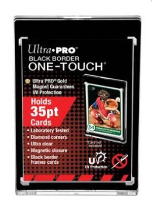 ULTRA PRO -  BLACK BORDER ONE-TOUCH MAGNETIC CLOSURE (UP TO 35PT CARD)