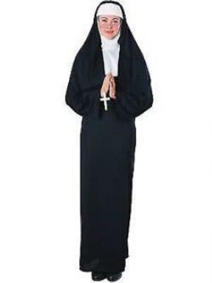 PRIESTS AND NUNS -  NUN COSTUME (ADULT - ONE SIZE UP TO 12)