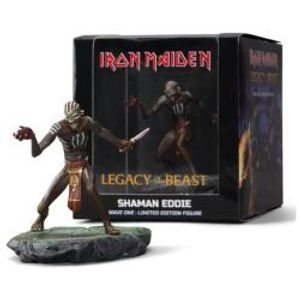 IRON MAIDEN -  FIGURINE EN VINYLE DE CHAMAN EDDIE (10CM) -  LEGACY OF THE BEAST