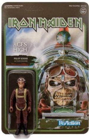 IRON MAIDEN -  FIGURINE REACTION PILOTE EDDIE (10CM) -  ACES HIGH