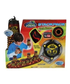 SPORT STACKING -  CUP STACKING PACK - BLACK FLAMES