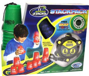 SPORT STACKING -  CUP STACKING PACK - METALLIC GREEN