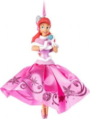 LITTLE MERMAID -  PINK DRESS ARIEL MUSICAL ORNAMENT