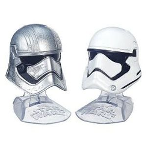 STAR WARS -  CAPTAIN PHASMA AND FIRST ORDER STORMTROOPER DIE CAST HELMET -  THE BLACK SERIES