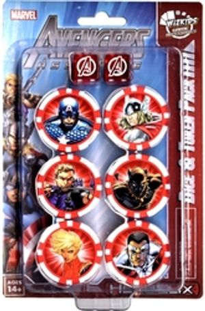 MARVEL -  AVENGERS ASSEMBLE DICE & TOKEN PACK - CAPTAIN AMERICA SET -  MARVEL HEROCLIX