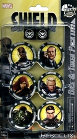 MARVEL -  S.H.I.E.L.D. DICE & TOKEN PACK -  MARVEL HEROCLIX