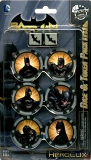 DC COMICS -  DICE & TOKEN PACK - BATMAN SET -  DC HEROCLIX