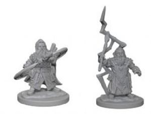 PATHFINDER MINIATURES -  DWARF MALE SORCERER (2) -  DEEP CUTS