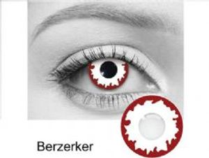 THEATRICAL CONTACT LENSES -  BERZERKER - RED AND WHITE (90 DAYS)