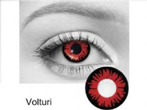 THEATRICAL CONTACT LENSES -  VOLTURI - RED AND BLACK (90 DAYS) 09.079