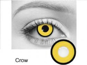 THEATRICAL CONTACT LENSES -  CROW - YELLOW (90 DAYS) 09.000