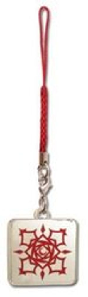 VAMPIRE KNIGHT -  ACADEMY CROSS ROSE LOGO CELLPHONE STRAP (METAL)