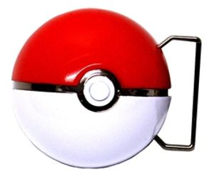 POKEMON -  BELT BUCKLE POKEBALL 3D