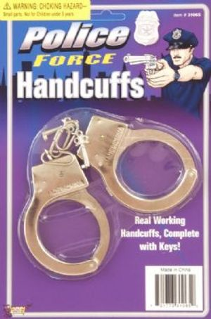 COPS AND ROBBERS -  METAL - HANDCUFFS