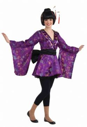 ASIA -  FORTUNE COOKIE COSTUME (TEEN - FITS UP TO SIZE 9)