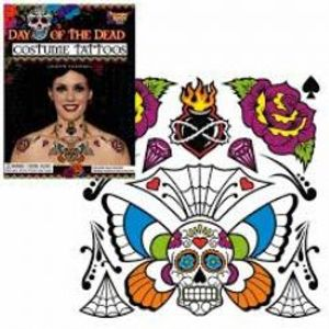 TATTOOS -  DAY OF THE DEAD TEMPORARY TATTOOS