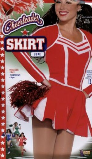 SPORT -  CHEERLEADER SKIRT (ONE SIZE/FITS UP TO SIZE 12) - RED