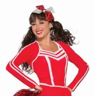 SPORT -  CHEERLEADER SHRUG CARDIGAN COSTUME - (ADULT - ONE SIZE UP TO 12)