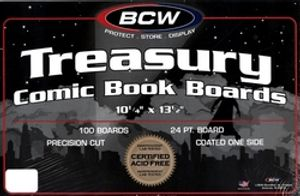 BACK BOARDS -  TREASURY SIZE WHITE ON BOTH SIDES (100)
