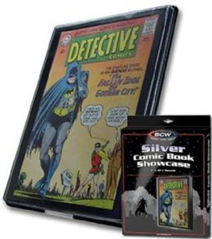 FRAME -  SHOWCASE FOR SILVER FORMAT COMIC BOOK - BLACK