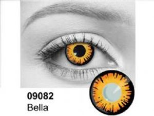 THEATRICAL CONTACT LENSES -  BELLA - ORANGE AND BLACK (90 DAYS) 09.082