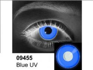 THEATRICAL CONTACT LENSES -  BLUE UV - BLUE (90 DAYS) 09.455