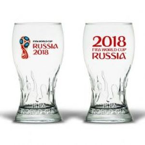 SOCCER 2018 -  FIFA WORLD CUP RUSSIA DRINKING GLASS (PACK OF 2)