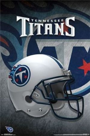 TENNESSEE TITANS -  HELMET POSTER (22
