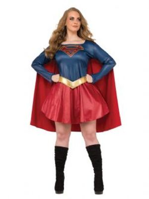 SUPERGIRL -  SUPERGIRL COSTUME (PLUS SIZE - 16-22)
