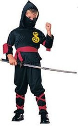 NINJA -  NINJA COSTUME - BLACK (CHILD)