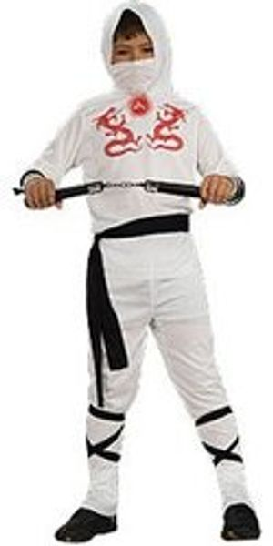 NINJA -  NINJA COSTUME - WHITE (CHILD)