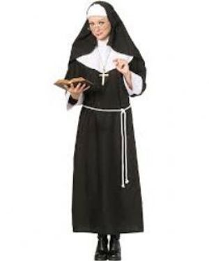 PRIESTS AND NUNS -  NUN COSTUME (ADULT - X.LARGE 16-20)