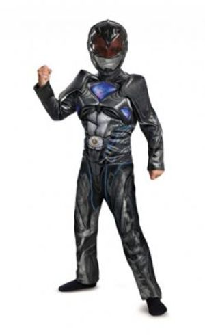 POWER RANGERS -  BLACK POWER RANGER COSTUME (CHILD) -  POWER RANGERS THE MOVIE 2017