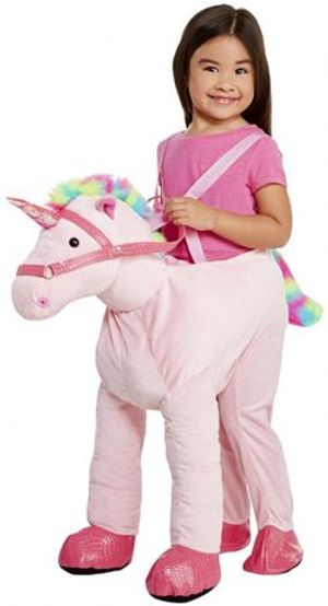 ANIMALS -  PINK UNICORN COSTUME (CHILD - ONE SIZE)
