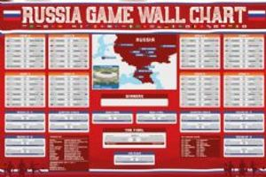 2018 SOCCER -  2018 WORLD CUP - RUSSIA GAME WALL CHART