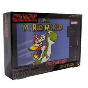 NINTENDO -  LIGHT UP LUMINART (TOUCH ACTIVATED) (8 X 11.5 INCH) -  SUPER MARIO WORLD