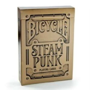 POKER SIZE PLAYING CARDS -  SILVER (REGULAR INDEX) -  STEAMPUNK