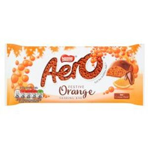 AERO -  BARRE DE CHOCOLAT ORANGE FESTIVE (À PARTAGER)