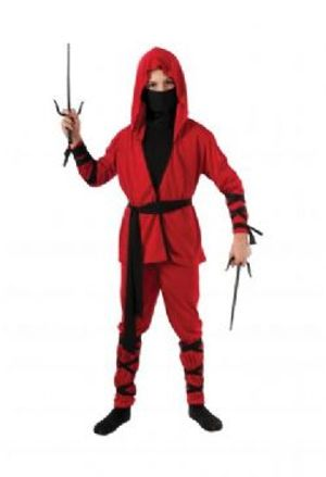 NINJA -  NINJA LORD COSTUME - RED (CHILD)