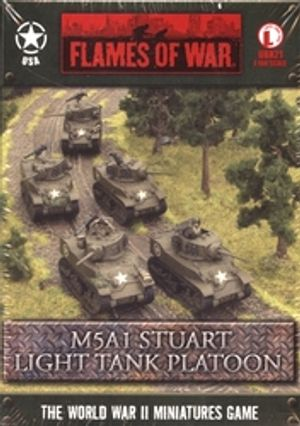 FLAMES OF WAR -  M5A1 STUART LIGHT TANK PLATOON (5) -  AMERICAN
