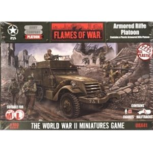 FLAMES OF WAR -  ARMORED RIFLE PLATOON (PLASTIC) -  AMERICAN