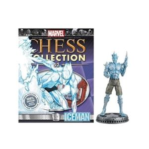 MARVEL CHESS COLLECTION -  ICEMAN (MAGAZINE AND FIGURINE) 52