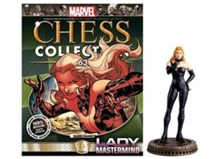 MARVEL CHESS COLLECTION -  LADY MASTERMIND (MAGAZINE AND FIGURINE) 63