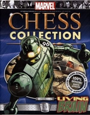 MARVEL CHESS COLLECTION -  LIVING BRAIN (MAGAZINE AND FIGURINE) 96