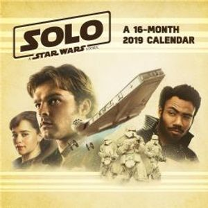 STAR WARS -  2019 WALL CALLENDAR (16 MONTH) -  SOLO