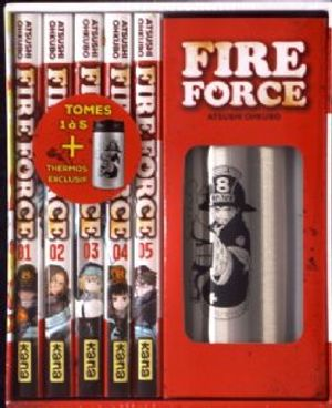 FIRE FORCE -  COFFRET TOME 1 À 5 AVEC UN THERMOS EXCLUSIF (V.F.)