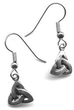 QUERCUS ALBA -  CELTIC KNOT EARRINGS - SILVER (HOOKS IN STAINLESS STEEL)