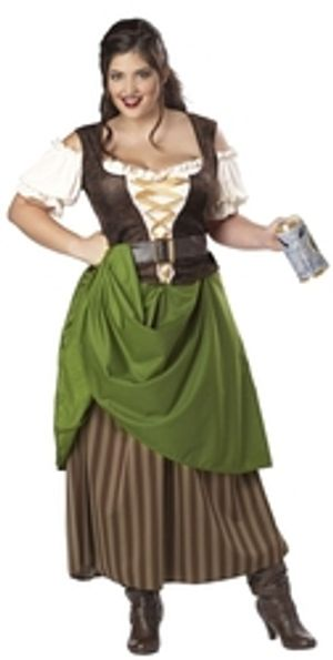 MEDIEVAL -  TAVERN MAIDEN COSTUME (ADULT - PLUS SIZE)