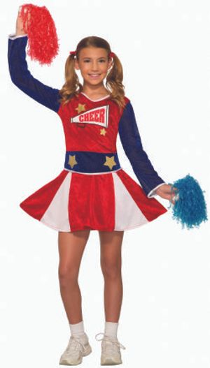 SPORT -  VARSITY CHEERLEADER COSTUME - RED AND BLUE (CHILD)